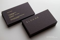 Sloane Duplex Business Cards on Behance