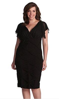 vestidos de mujer en talla grande en negro