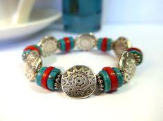 Aztec Arizona Southwestern Cowgirl Style Bracelet