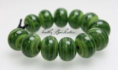Green Lampwork Beads, Green Spacer Beads, Green Spacer Beads, Small Green Beads, Green Swirl Beads, Green Glass Beads, Kathys Bead Shop