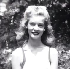 A young, Lauren Bacall.