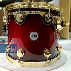 Blood Red sparkle to Black Burst. #dwdrums #thedrummerschoice