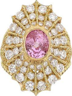 Pink Sapphire, Diamond, Gold Ring, Cynthia Bach.