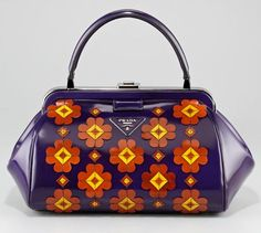 PRADA, mini floral applique doctor's  bag