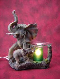 Electric Oil Wax Burner Warmer Diffuser. Great Gift Idea and Decor! http://mkt.com/pure-oils/m-elephants #oils #waxtart #warmer #Wax #burner #homedecor #tree #elephant #lamp #Soywax #tart #giftideas