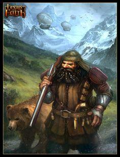 Dwarf gunman by Tsabo6.deviantart.com on @deviantART
