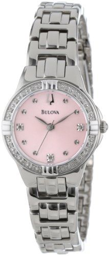 Women's Wrist Watches - Bulova Womens 96R171 DiamondSet Case Watch with Link Bracelet * Details can be found by clicking on the image.