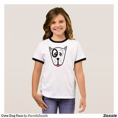 Cute Dog Face Girl's Tee Available on many products! Hit the 'available on' tab near the product description to see them all! Thanks for looking!  @zazzle #art #cute #cartoon #funny #dog #cute #pet #friend #family #drawing #digital #black #sweet #nice #friend #women #men #kids #clothes #fashion #style #apparel #tee #tshirt #hoody #sweatshirt #shop #gift #idea #shopping #buy #sale #puppy
