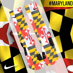 Custom Nike Elite Socks - Maryland Flag