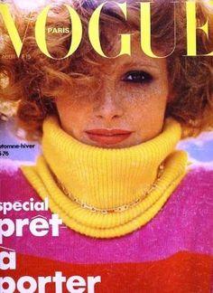 Vintage Vogue magazine covers - mylusciouslife.com - Vintage Vogue Paris August 1975.jpg