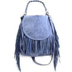 Fringe bag- Leather bag ($301) ❤ liked on Polyvore