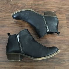 LUCKY BRAND Black Booties Ankle Boots 8.5 leather Super cute pair of black Ankle Booties from LUCKY BRAND. Worn a handful of times, leather upper. Size 8.5 Lucky Brand Shoes Ankle Boots & Booties