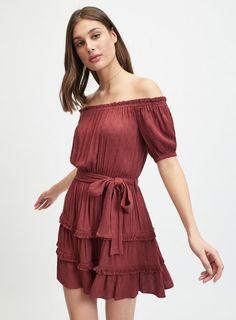6421d30618b9 16 Best bardot dress images | Midi dresses, Ball Gown, Bardot dress