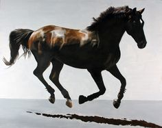 "Jan Lukenes, 'Gallop', Oil on canvas, 48x60"", 2013. Price on request"