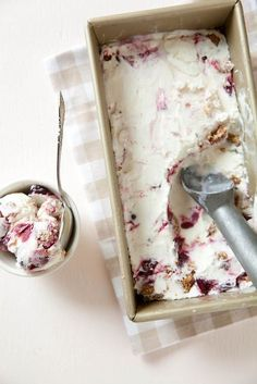 Cherry Crisp Ice Cream