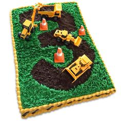 """5 out of 5 stars - """"These were a hit with my two year old that is obsessed with construction trucks!""""   This five pack construction vehicle cake topper set is the perfect addition to make any cake a hit! Set includes an excavator, bulldozer, road roller, truck and mixer truck. Each toy car is about 3 inches. Construction Party Cakes, Construction Birthday Parties, 3rd Birthday Parties, 4th Birthday, Birthday Ideas, 3 Year Old Birthday Cake, Birthday Photos, Truck Birthday Cakes, Truck Cakes"""