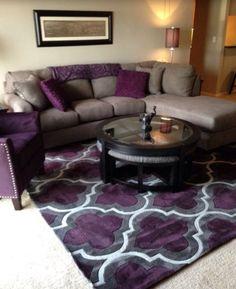 Morado Living Room Decor Purple, Grey Living Room Ideas Color Schemes, Purple  Gray Bedroom