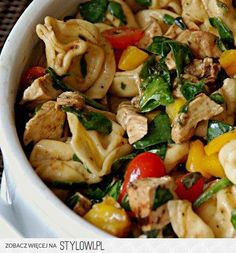 Balsamic chicken spinach and tomato pasta salad recipe - stl cooks Tomato Pasta Salad, Pasta Salad With Tortellini, Chicken Tortellini, Best Pasta Salad, Cheese Tortellini, Balsamic Chicken Pasta, Chicken Pasta Recipes, Pasta Salad Recipes, Spinach Recipes