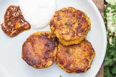 These Moroccan-style vegetarian patties use the chickpeas left over in the can when you make Aquafabulous mayonnaise. If you have cooked pumpkin mash to hand, use 1½ cups in place of the roasted pumpkin. It needs to be quite dry. You can also use kumara in place of pumpkin. Ready in 1 hour.