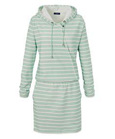 Sweatkleid im Streifen-Design von CONLEYS BLUE. #green #streifen #kleid