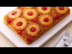 Sometimes we like doing things the old-fashioned way, but other times were finding you ways to cut some corners without sacrificing taste. This pineapple upside-down cake recipe hits all the nostalgic notes of the 1950s, but it comes together so easily with box yellow cake mix. The secret to a good upside-down cake is not to mess up the upside-down part! First, dont skimp on the butter and sugar layer at the bottom of the pan. The fruit is placed carefully on top of that, and then the cake…