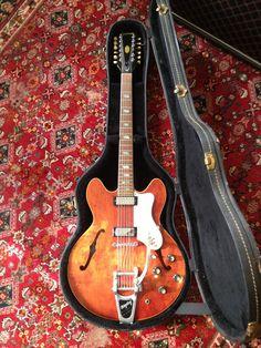 Vintage 1967 Epiphone Riviera XII 12 string Electric guitar with original case Gibson Kalamazoo