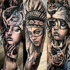 Full hand Tattoo for man and woman - Tattoos - Tattoo Girls, Girl Leg Tattoos, Hand Tattoos For Guys, Leg Tattoo Men, Badass Tattoos, Body Art Tattoos, Tattoo Wolf, Inca Tattoo, Native Indian Tattoos