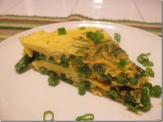 Asparagus Fritata 1 point+ per slice! My grandmother & mother have made this for years, so good.