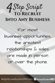4 Step Script to Recruit Into Any Business Home Based Business, Online Business, Direct Sales Recruiting, Field Marketing, Marketing Professional, Business Quotes, Business Ideas, Work From Home Moms, Business Entrepreneur