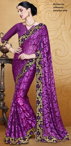 Embroidered Georgette Saree #KAL 850