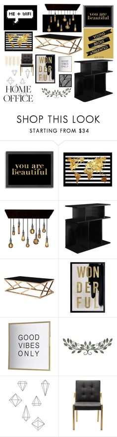 """21 op Black"" by nightmaresanddreams ❤ liked on Polyvore featuring interior, interiors, interior design, home, home decor, interior decorating, Americanflat, Oliver Gal Artist Co. and Umbra"