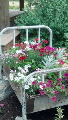 My favorite flower bed. Here in my own yard. My favorite flower bed. Here in my own yard. Garden Junk, Garden Yard Ideas, Garden Beds, Garden Projects, Garden Art, Garden Whimsy, Big Garden, Garden Crafts, Rustic Gardens