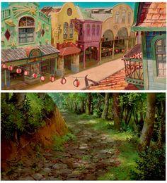 Cenários de A Viagem de Chihiro, do estúdio Ghibli | THECAB - The Concept Art Blog
