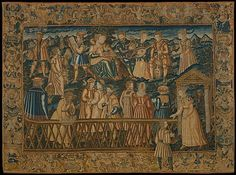 The Garden of False Learning from a set of The Table of Cebes Design based on a woodcut by David Kandel  (born ca. 1520/1525, active Strasbourg, died between 1592 and 1596), 1550–80, French, Wool and silk on canvas (cross-stitch, 48-56 per sq. in., 9 per sq. cm.) Tent stitch, 156-190 per sq. in., 30-36 per sq. cm. H. 110 1/2 x W. 153 1/8 inches (280.7 x 388.9 cm)