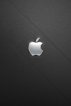 Shiny Silver Apple iPhone Wallpaper. #iPhone #wallpaper