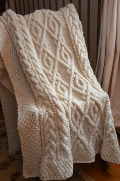 Irish Knit Baby Blanket Pattern : Irish, Blankets and Throw blankets on Pinterest