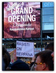 Portfolio Multimedeia: Stop tykkänään natsit. Loppu rasismille Helsingissä -mielenosoitus 2