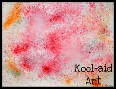 Kool-Aid spray art
