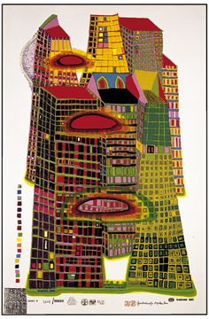 Friedensreich Hundertwasser Good Morning City, Initial edition, Silkscreen in 10 colors with metal imprints in 8 colors Hand signed and numbered Format 850 x 555 mm, image 765 x 470 mm 686 Georges Braque, Queen Elizabeth 2, Friedensreich Hundertwasser, Art Graphique, Sculpture, Teaching Art, Paintings For Sale, Oeuvre D'art, Original Artwork