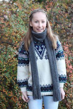Michael Kros inspirert skjerf. Med forklaring på fremgangsmåte. (DAMER-for faen) Michael Kors, Winter, Sweaters, Fashion, Winter Time, Moda, Fashion Styles, Fasion, Sweater
