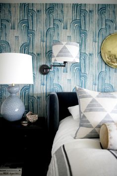 my favorite wallpaper! love this mix of patterns // by brian paquette