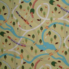 MM Going Places Lime 1/2 METRE