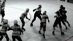 The diamond push: Good team work and you see the start of the dark shirts bridging back after they push the jammer out.