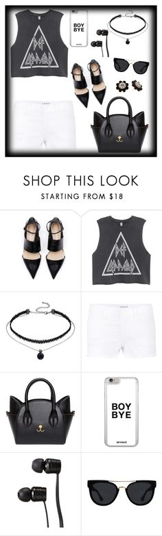 """""""Summer Beach Look"""" by nefertiti1373 ❤ liked on Polyvore featuring Frame Denim, Vans, Quay and Kate Spade"""