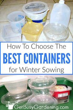 Winter Sowing Containers: What Works & What Doesn't - Get Busy Gardening Gardening For Beginners, Gardening Tips, Texas Gardening, Vegetable Gardening, Organic Vegetables, Growing Vegetables, Cold Climate Gardening, Mini Greenhouse, Greenhouse Ideas