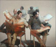 "Saatchi Online Artist: Nicola Pucci; Oil, 2011, Painting ""reading"""