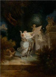 Jean-Honore Fragonard - The Sermon of Love [?]