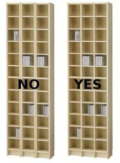 Improved IKEA Benno CD Shelf