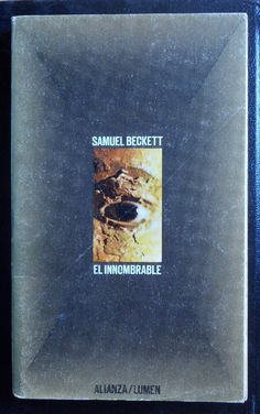 Samuel Beckett's 'The Unnamable' | #bookcover