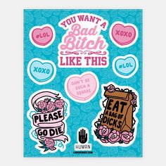 Bad Bitch Sticker Sheet | Stickers, Sticker Sheets and Vinyl Stickers | HUMAN